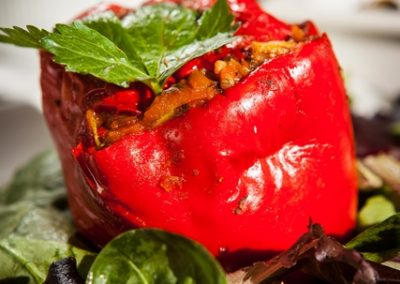 veg stuffed pepper